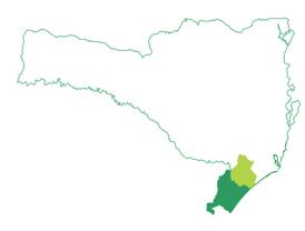 Mapa com a abrangência local