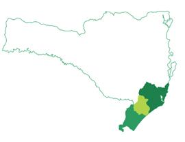 Mapa com o grupo de municípios