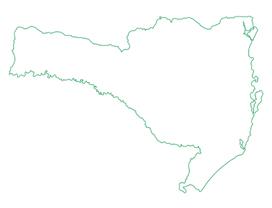 Mapa com a abrangência estadual