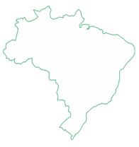Mapa com a abrangência nacional